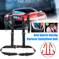 Sports Racing Harness Safety Seat Belt Universal 3 4 Point Fixing Mounting Auto Car Safety Seat Belt Buckle Harness