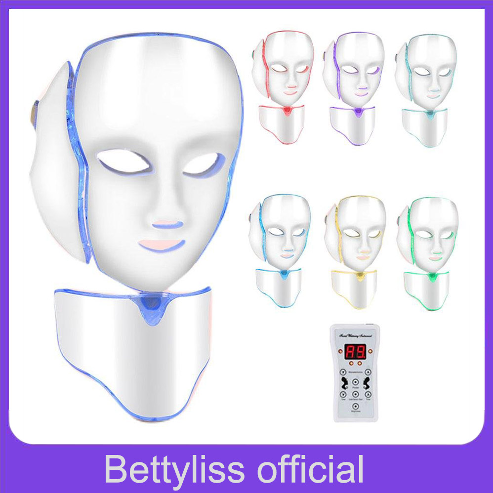 Bettyliss 7 Colors LED Mask Facial machine Therapy face mask beauty Korean Skin Care Tool