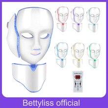 Bettyliss 7 цветов светодиодный маска прибор для лица терапии Маска для красоты лица корейский инструмент для ухода за кожей