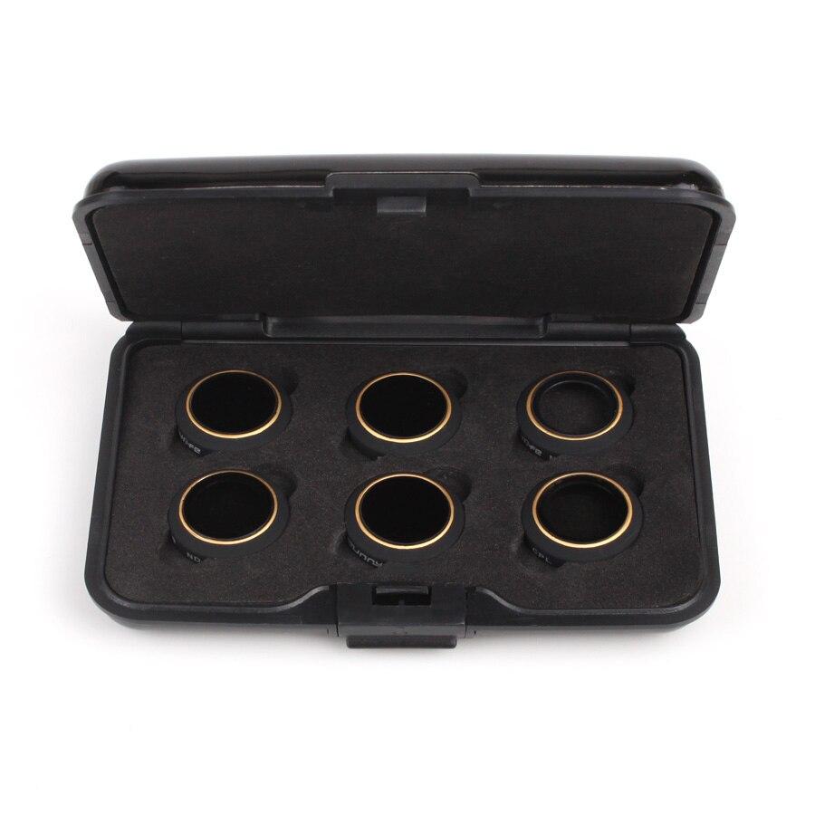 6 en 1 accesorios de filtro UV Polarizador Circular filtros de densidad neutra MCUV/CPL/ND4/ND8/ND16/ND32 filtro para DJI MAVIC Pro