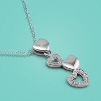 New 925 Sterling Silver Necklace Female Cute Pendant Design Charm Clavicle Necklace Lady Popular Jewelry Valentine