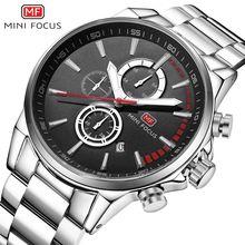 MINI FOCUS haut marque hommes montres Sport de luxe étanche montre à Quartz hommes en acier inoxydable Auto Date montres relogio saat