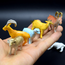 8Pcs/lot PVC Simulation Farm animals Model Of 8 different kinds sheep Model Toys for kids gift