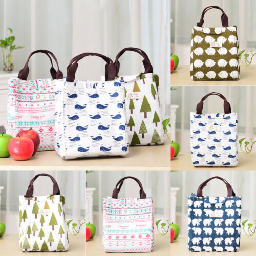 For Women Kids Men Insulated Canvas Box Tote font b Bag b font Thermal font b