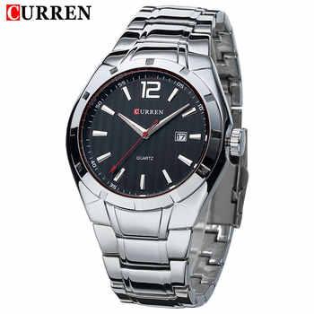 CURREN Fashion Business Quartz Watch Display Date Full Steel Sports Waterproof Wristwatch Hot Sale Saat Clock reloj hombre - DISCOUNT ITEM  44% OFF All Category