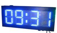 Большие размеры уличные водонепроницаемые 8 дюймов 4 цифры синий цвет часов и минут привело часы (hot4 8b)