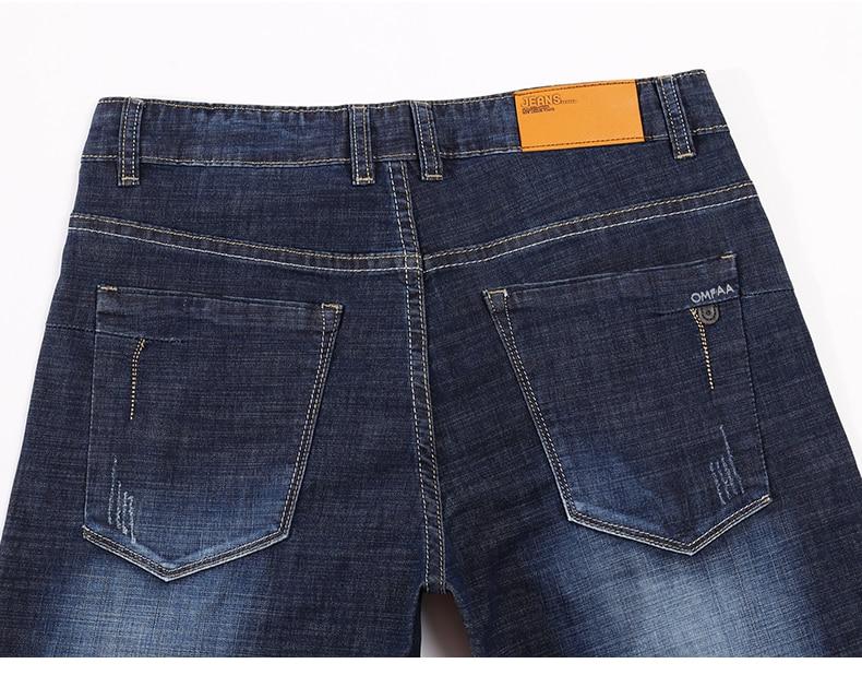 KSTUN Men Jeans Famous Brand 2019 Slim Straight Business Casual Dark Blue Thin Elasticity Cotton Denim Pants Trousers pantalon 14