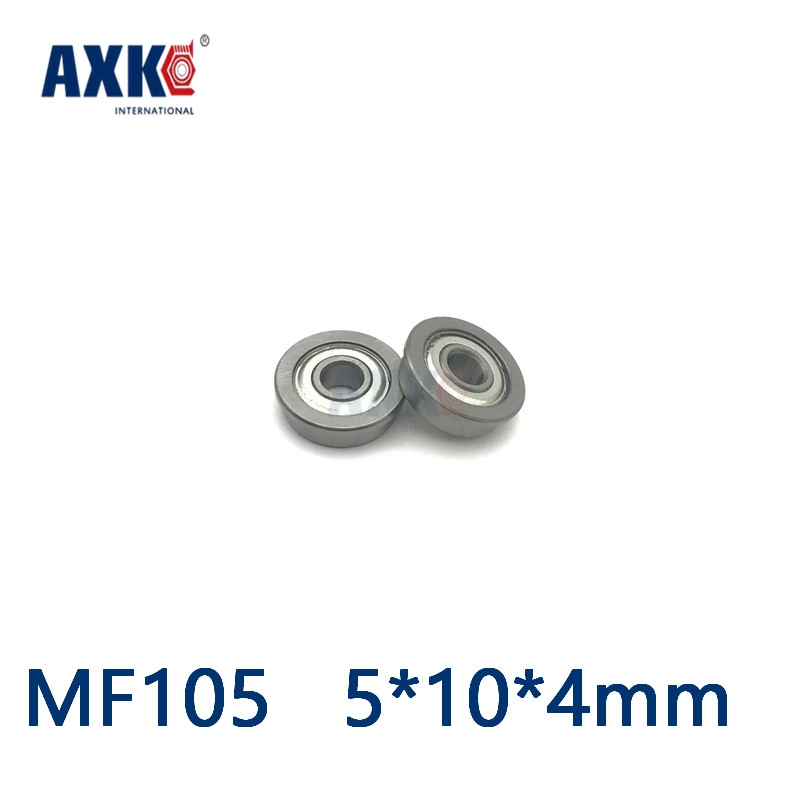 2019 Sale Thrust Bearing Axk Free Shipping 10pcs/lot Mf105 Mf105zz <font><b>5*10*4</b></font> Miniature Flange Deep Groove Ball Radial Bearings image