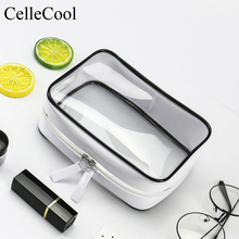 Functional Organizer Storage Pouch Toiletry Wash Transparent Travel Cosmetic Bag Makeup Case Zipper Clear Make Up Bag цены онлайн