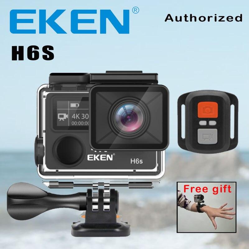 Câmera ação Deportiva EKEN H6S Ultra HD 4 K WiFi EIS Estabilização Eletrônica de Imagem Ir À Prova D' Água 1080 P Pro Esporte câmera DV