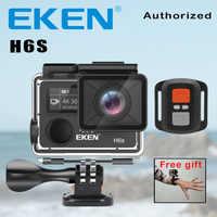 Câmera de ação deportiva eken h6s ultra hd 4 k wifi eis estabilização de imagem eletrônica ir à prova ddv água 1080 p pro esporte dv câmera