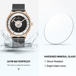 Image 5 - חדש גברים שעון NAVIFORCE יוקרה Creative שעונים למעלה מותג קוורץ שעון זכר ספורט פלדה בנד שעון יד relogio masculino 2019