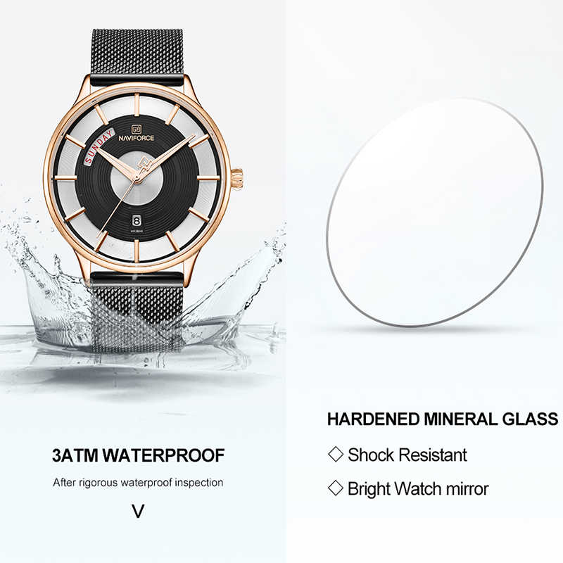 Nuevos relojes creativos de lujo de NAVIFORCE para hombre, reloj de cuarzo de marca superior, reloj de pulsera deportivo de acero para hombre, reloj de pulsera, reloj masculino 2019