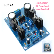 Lusya DIY Kits LM317t LM337t linear Regulated DC Power Supply Adjustable Filtering board 5 40V DC F7 007