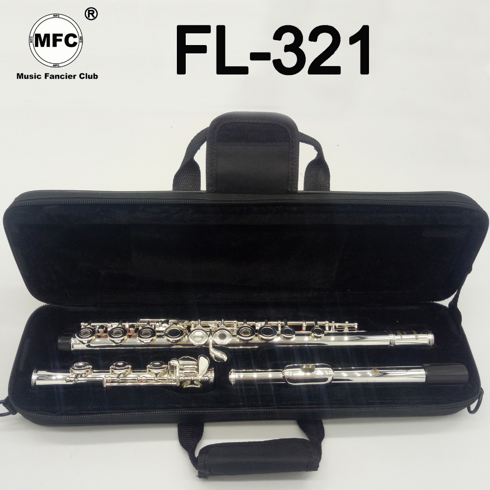 Music Fancier Club Intermediate Standards Flute FL-321 Student Flutes Silver Plated 16 17 Holes Closed Open Hole With CaseMusic Fancier Club Intermediate Standards Flute FL-321 Student Flutes Silver Plated 16 17 Holes Closed Open Hole With Case