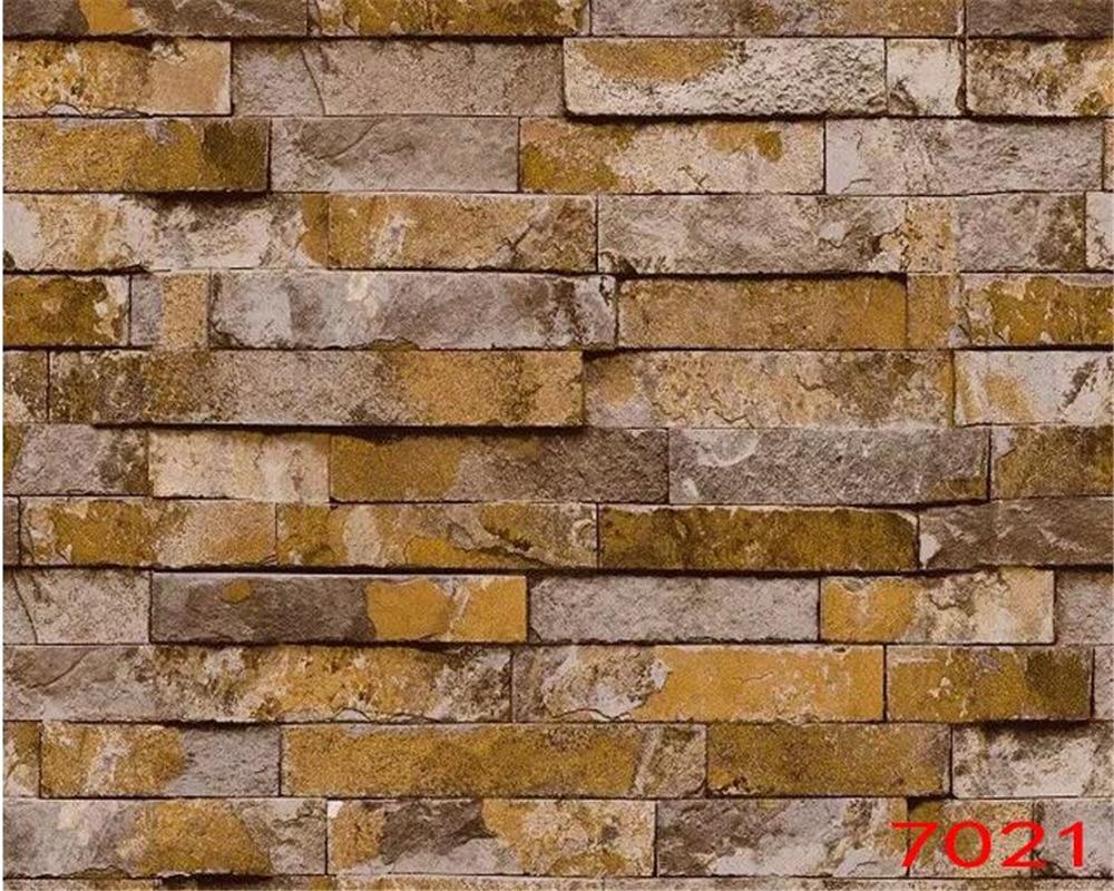 beibehang Simple Stereo Brick Pvc Wallpaper Garment Shop papel de parede Hotel TV Background Living Room