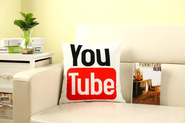 Creative Facebook Pillow Logo Smart Twitter Google Google Home Decor Cushion Cute Cartoon Pet Cat Bull Dog Glasses For Kids Gift
