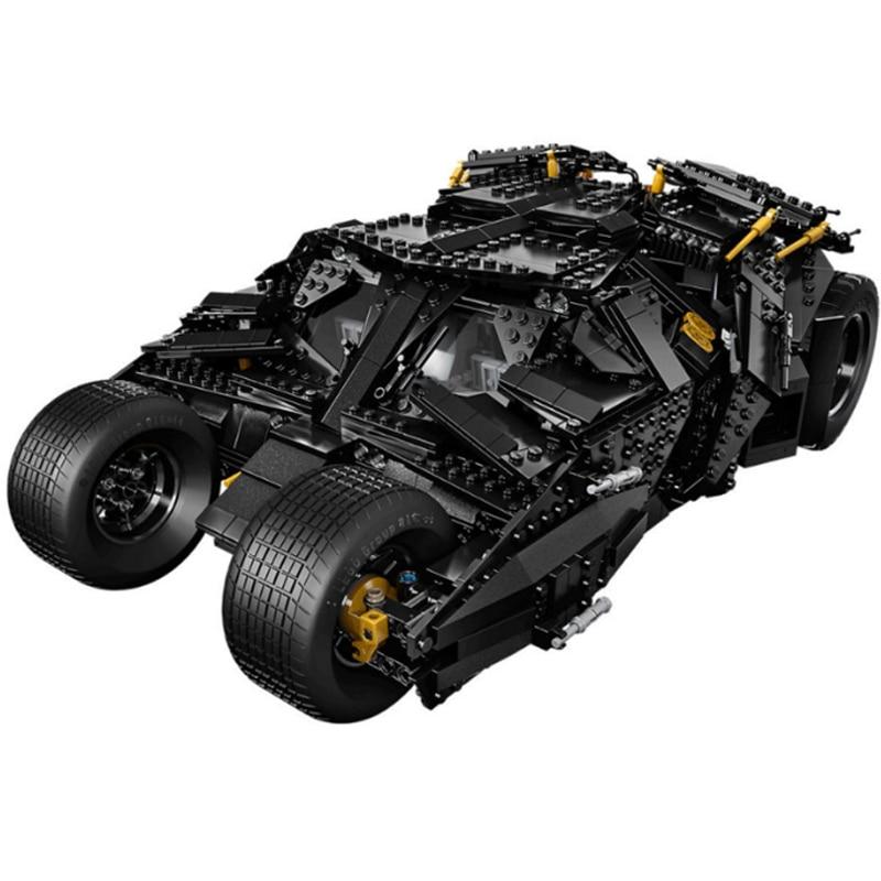 цена на 1969Pcs Super Heroes Batman 76023 Chariot The Tumbler Batmobile Batwing Building Blocks Bricks Education Toys 7111