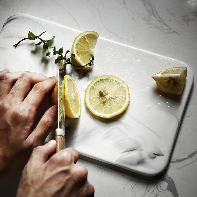 Lekoch Nordic marmor keramik tablett brot platte Westlichen dessert platte cut obst hacken platte einstellung platte großhandel