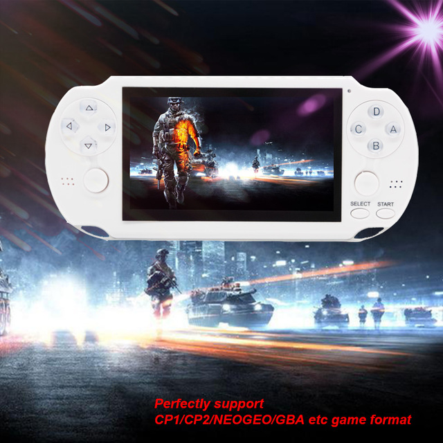 64 Bit 4.3 Inch Multifunction System Support CP1/CP2/NEOGEO/GBA/GBC/GB Games Built-in 3000 Retro Games Handheld Game Console