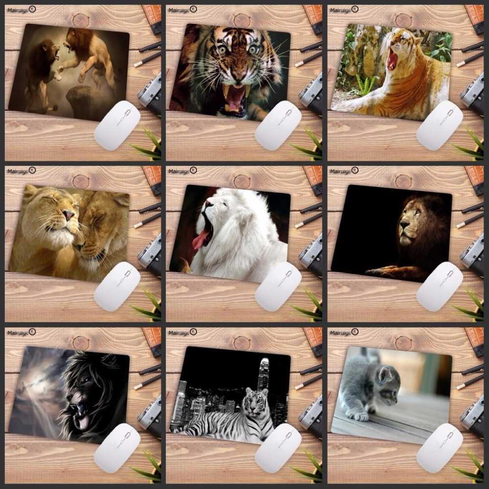 Mairuige 220*180*2MM Animal Tiger Style Mousepad Decorate Your Desk At Home And Office Desk Gming Speed Mouse Pad Promotions