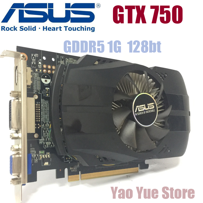 Asus GTX-750-FML-1GB GTX750 GTX 750 1G D5 DDR5 128 Bit PC Desktop Graphics Cards PCI Express 3.0 computer Graphics Cards