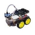 Комплект для монтажа многофункционального мини робота-машинки с полным приводом на 4 колеса, шасси робота-машинки в комплекте с платой UNO R3 на 170 контактов