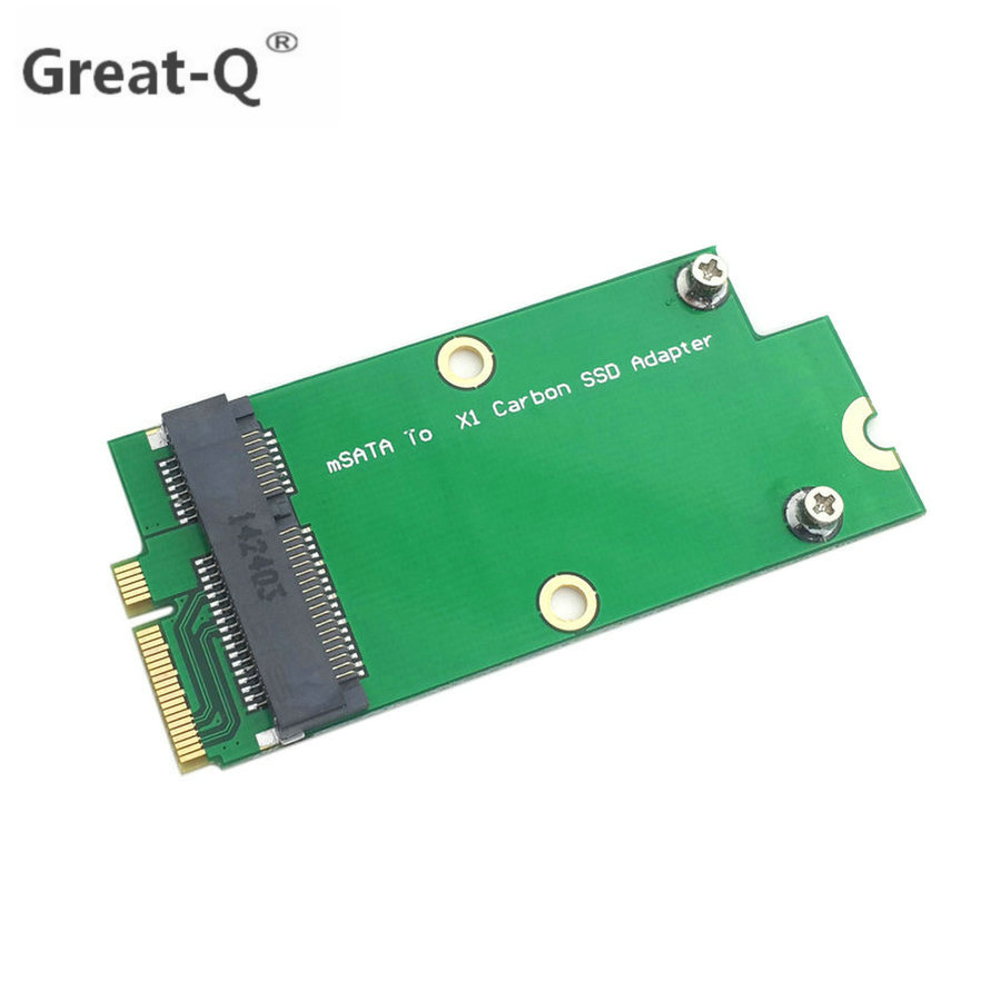 Great-Q Mini <font><b>PCI</b></font>-E pcie mSATA <font><b>SSD</b></font> to Sandisk SD5SG2 Lenovo <font><b>X1</b></font> Carbon Ultrabook <font><b>SSD</b></font> Add on Cards <font><b>pci</b></font> <font><b>express</b></font> riser card image