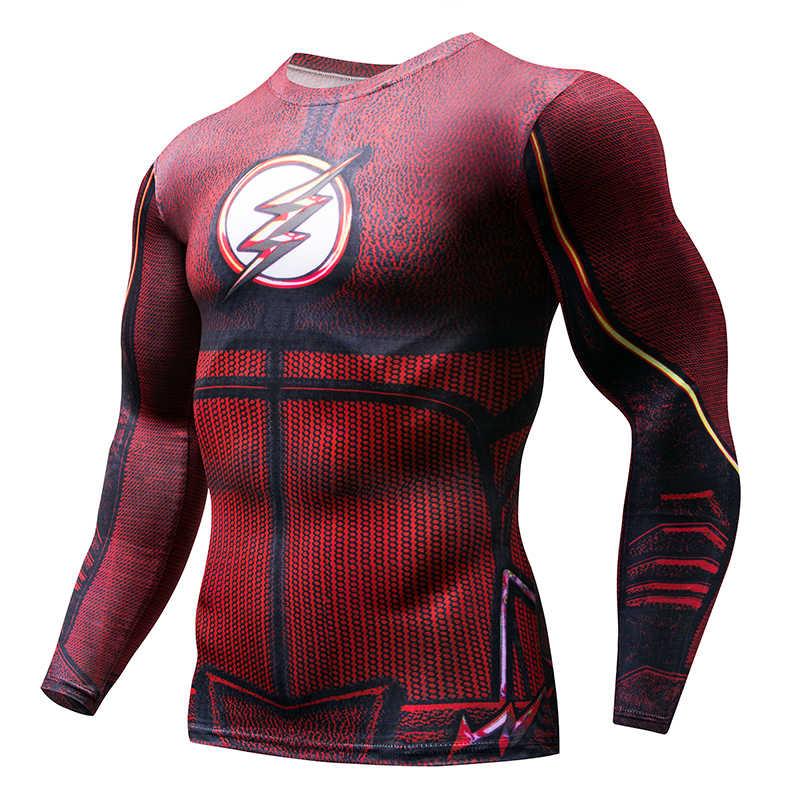 2019 super herói de fitness mma camisa compressão anime musculação manga longa 3d t camisa topos camisas homem cosplay roupas