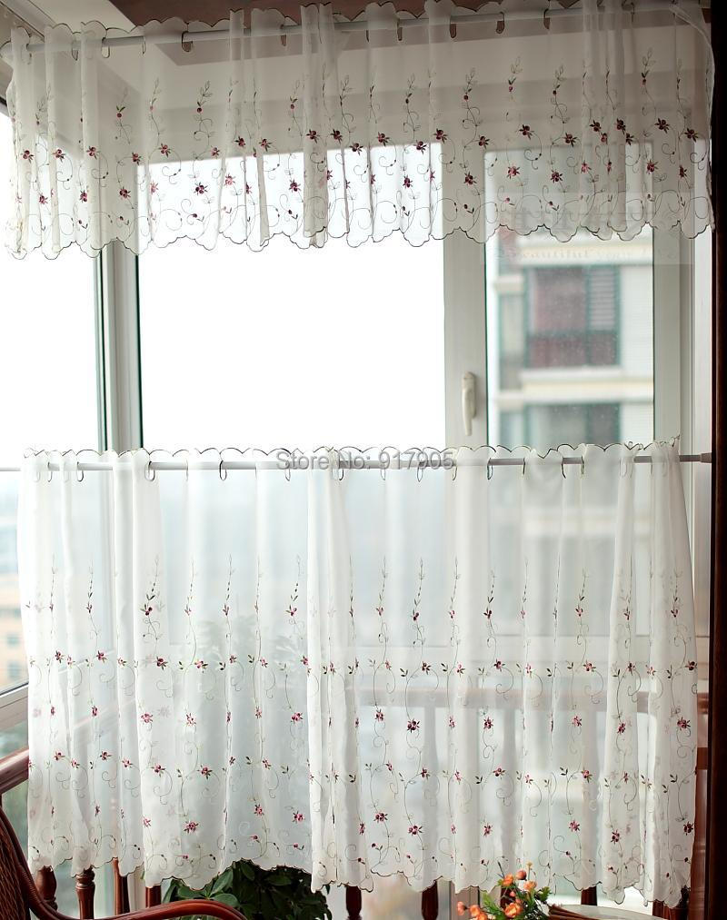 Lace Kitchen Curtains. Crochet Curtain Ecru Lace Curtains Crochet ...