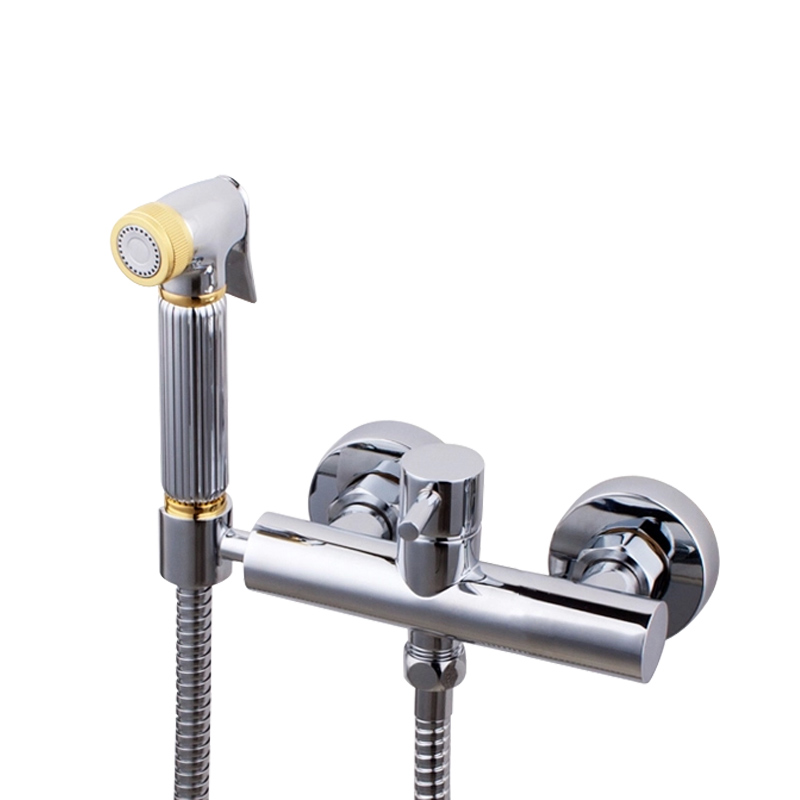 Free ship New Chrome and gold Solid Brass Bidet Douch Shattaf Spray Hand Shower Head, Hot Cold Mixer ValveFree ship New Chrome and gold Solid Brass Bidet Douch Shattaf Spray Hand Shower Head, Hot Cold Mixer Valve