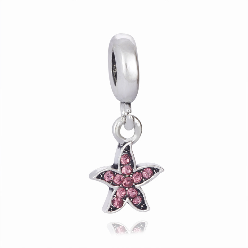 Jewelry Sets & More Dutiful Shiny Star With Crystal Multicolor Beads Big Hole Charm Pendants European Diy Jewelry Accessories Fit Necklace Bracelet Jpp234 To Be Highly Praised And Appreciated By The Consuming Public