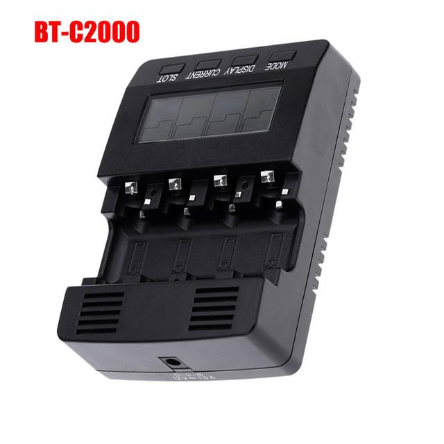 Opus bt-c2000 carregador de bateria para display lcd digital carregador de baterias nimh recarregáveis aa aaa 10440 inteligente bt-c2000