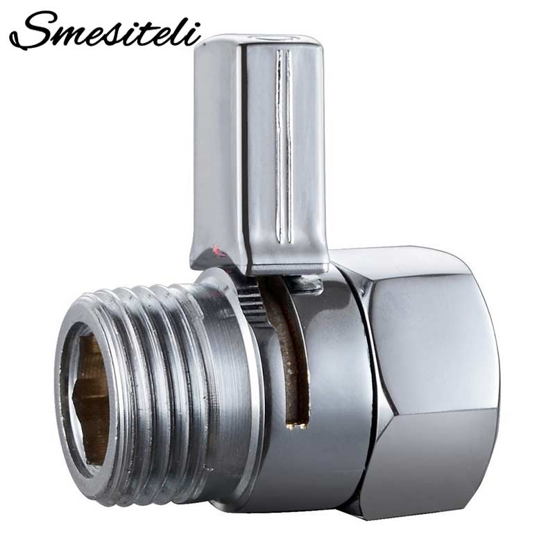 New Design Chrome Brass Shower Flow Control Switch  Water Pressure Reducing Or Hand Shower Head Diverter Shut Off Valve