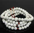 BRO835 Buddhist 108 White Starmoon Lotus Bodhi seeds Rosary 7mm Natural Plant Seeds Prayer Mala Girls Braclets