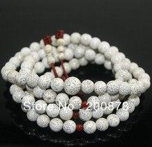 BRO835 Budista 108 Blanco semillas de Starmoon Bodhi Loto mala del Rezo del Rosario 7mm Semillas de Plantas Naturales Niñas Braclets