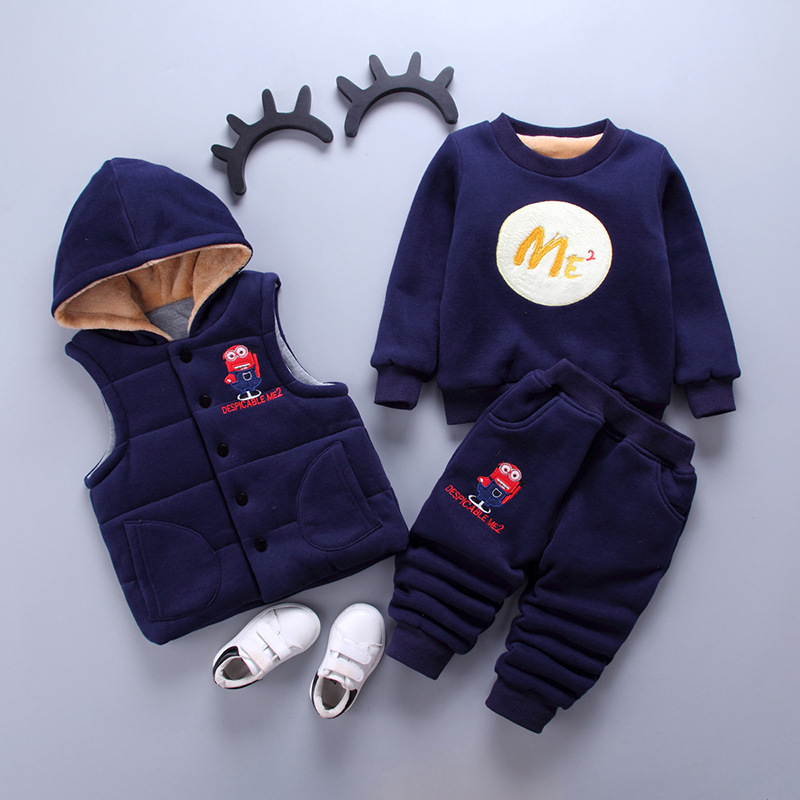 2018 Spring Boys Clothing Set Minions Clothes For Kids Despicable Me 2 Cartoon Tracksuits Boy Winter Clothing Boys Sport Suits boys clothing set despicable me cotton minion clothing sets unisex sport suit 3pcs coat t shirt pants baby boys girls clothes
