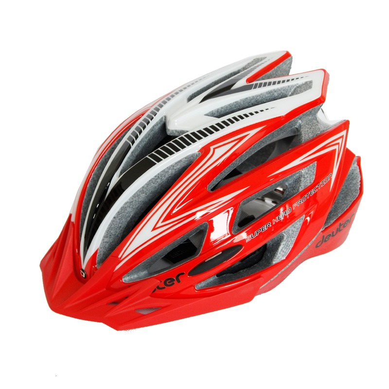 Deuter Ultralight Cycling Helmet With Light Intergrally-molded 240G Protector Adults EPS+PC Adjustable MTB Road Bicycle Helmet