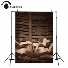 Allenjoy bookshelf photography backdrop retro library books children study student Background photo booth photocall custom(China)