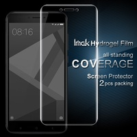IMAK 2 Pcs For Xiaomi Redmi4X Packing Full Screen Complete Covering Soft Hydrogel Protector Film For