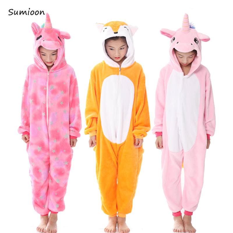 323476b3b5b7 Kigurumi Pajamas For Children Girls Unicorn Anime Panda Onesie Baby ...