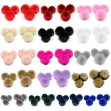 1PC DIY Artificial Faux Mink Fur Fluffy Pompom Ball Solid Color For Knitting Hat Shoes Scarves Bag Handbag Charms Ornament(China)