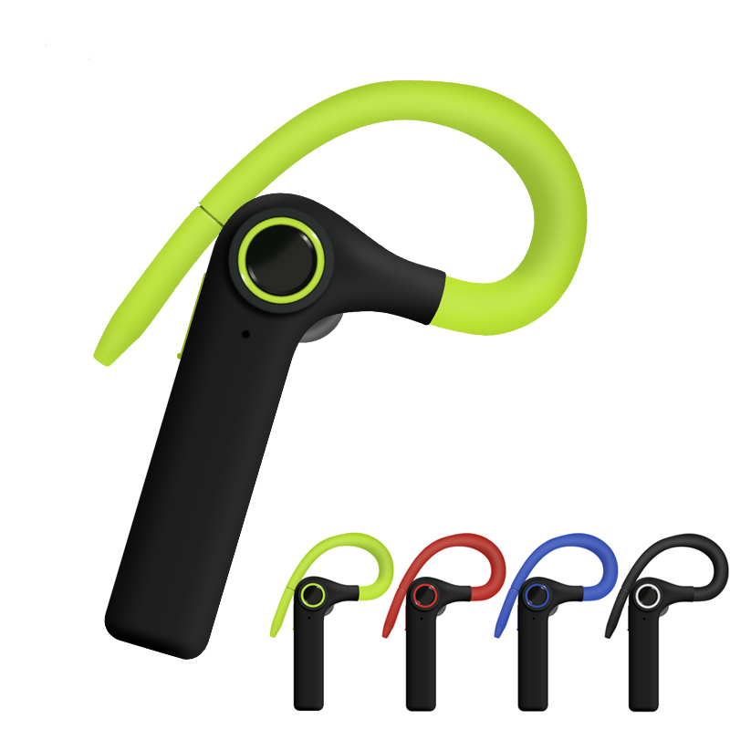 New Design Ear-Hook Sports Bluetooth Headphone Wireless Headset with Microphone Handsfree Business Earphone for Mobile Phone