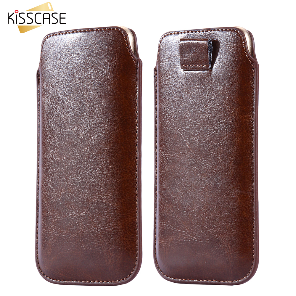 huge discount 67fc8 c3baf Universal Pull Tab Sleeve Pouch Case For Iphone 6 7 Leather Case For  Samsung S8 Xiaomi Redmi 4 Pro Mi5 4C Huawei Honor