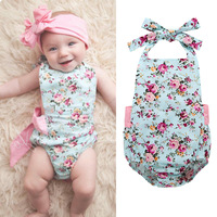 Baby toddler clothing Newborn Baby Rompers Infant Girl Fashion Jumpsuit Baby Girls Flower Jumpsuits sleeve rompers