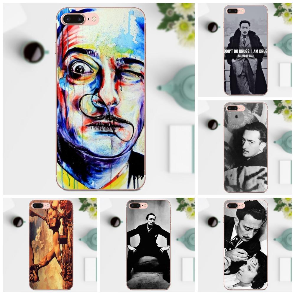 Salvador Dali Famous Painter For HTC 530 626 628 630 816 820 One A9 M7 M8 M9 M10 E9 Plus U11 Moto G G2 G3 G4 G5 Soft TPU Pattern