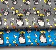 90*145CM patchwork Canvas fabric cartoon Totoro fabric for Tissue Kids home textile school bag for Sewing