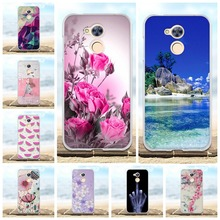 For Huawei Honor 6A Case Soft Silicon TPU Back Cover 3D Floral Pattern Bag 8 Lite Phone Cases