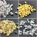100 pcs/lot Alloy Earring Backs Bullet Stoppers Earnuts Earring Plugs DIY Gold Silver Plated Findings Jewelry Accessories #JA004