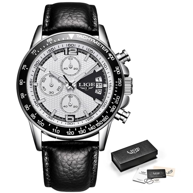 цена на Mens Watches Top Brand Luxury LIGE Multifunction Chronograph sports Watch Man Fashion Quartz Watches Men Clock Relogio Masculino